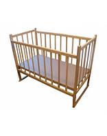 Детская кроватка КФ простая с опусканием и качалкой