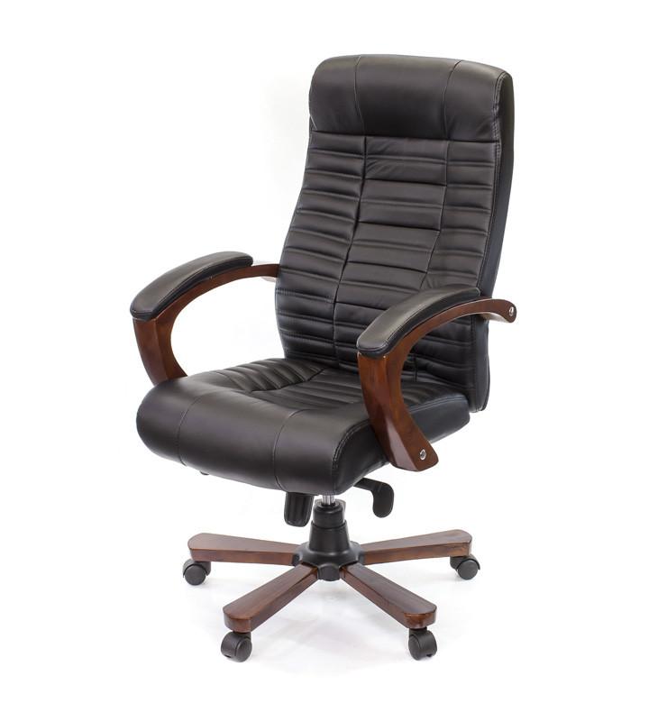 Кресло офисное Атлант, черный, компьютерные кресло на колесах с подлокотниками, EX MB А-Клас