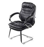 Крісло офісне Валенсія, чорний, ергономічне комп'ютерне крісло з підлокітниками, CH CF А-Клас