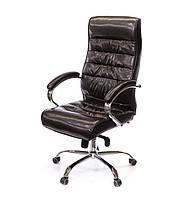 Крісло офісне Каміль, коричневий, ергономічне м'яке комп'ютерне крісло, CH MB А-Клас