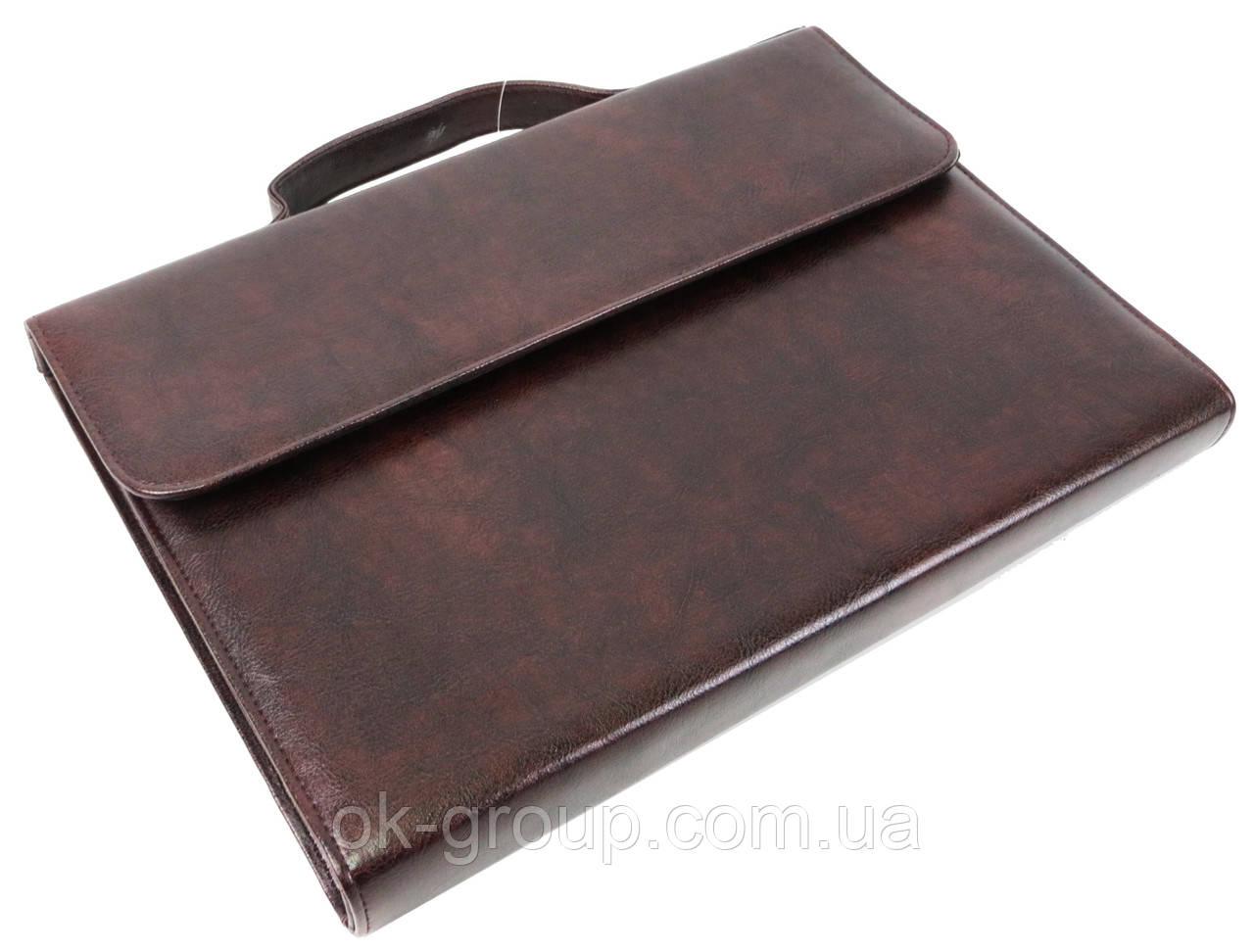 Папка-портфель з шкірозамінника Exclusive 711300 коричнева