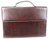 Папка-портфель з шкірозамінника Exclusive 711300 коричнева, фото 2