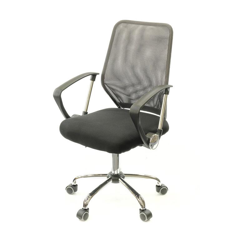 Крісло офісне Тета, сірий, комп'ютерне крісло на колесах з підлокітниками, CH PR А-Клас