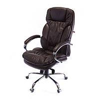 Крісло офісне Тіроль, коричневий, ергономічне м'яке комп'ютерне крісло, CH MB А-Клас