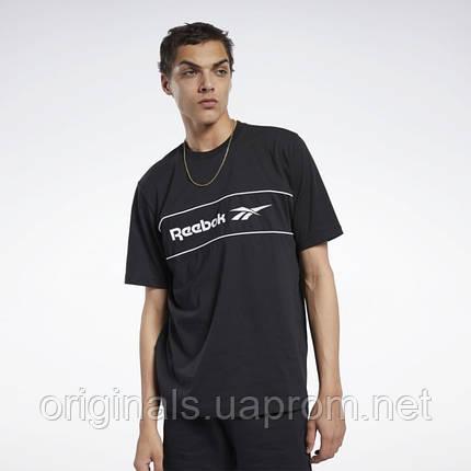 Мужская футболка Reebok Classics Linear FK2715 2021/D, фото 2