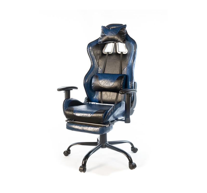 Кресло офисное Хорнет, синий, компьютерные кресло на колесах с подлокотниками, FR PL RL А-Клас
