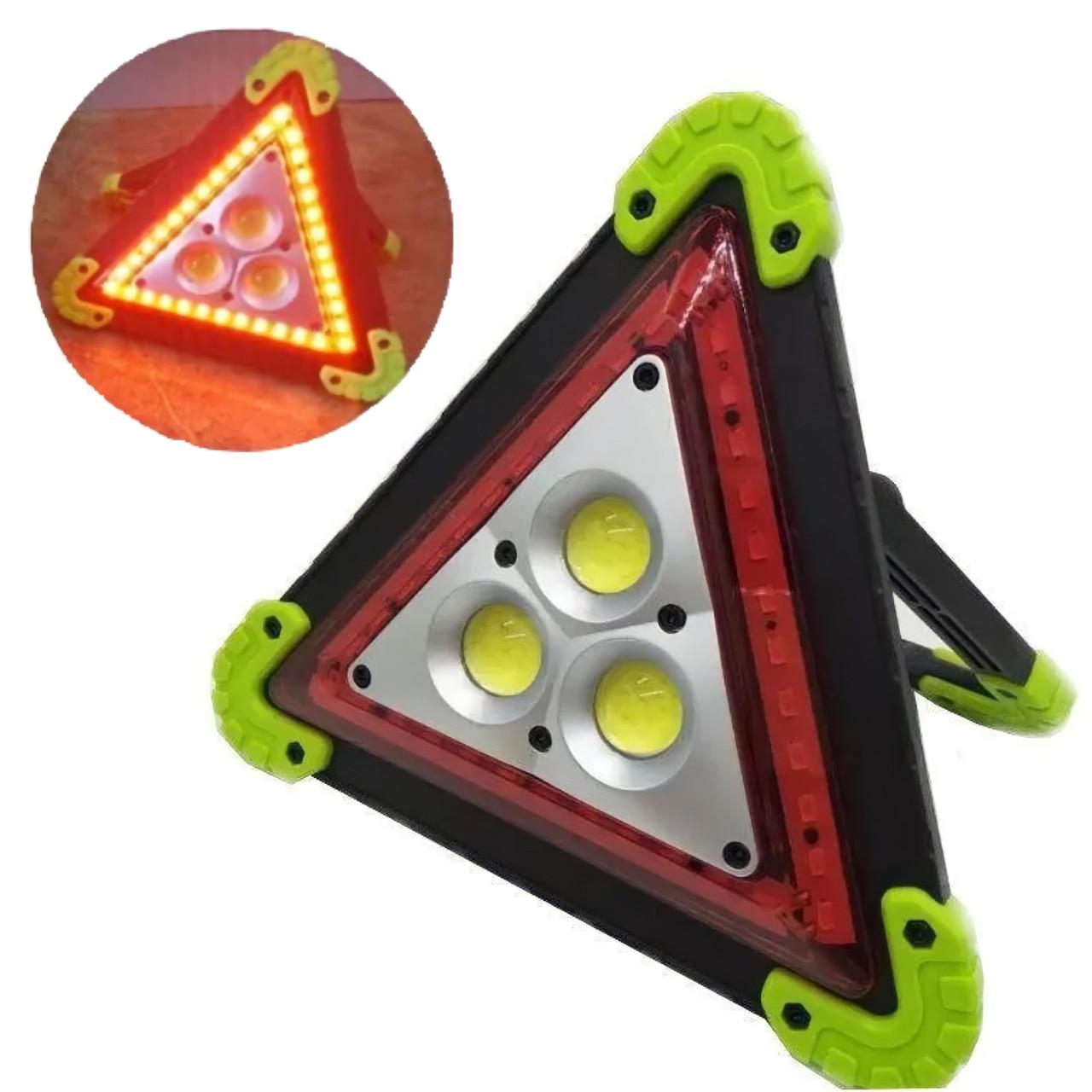 Багатофункціональний прожектор акумуляторний LED 30W LL-303 360 LED знак аварійний | Аварійка |