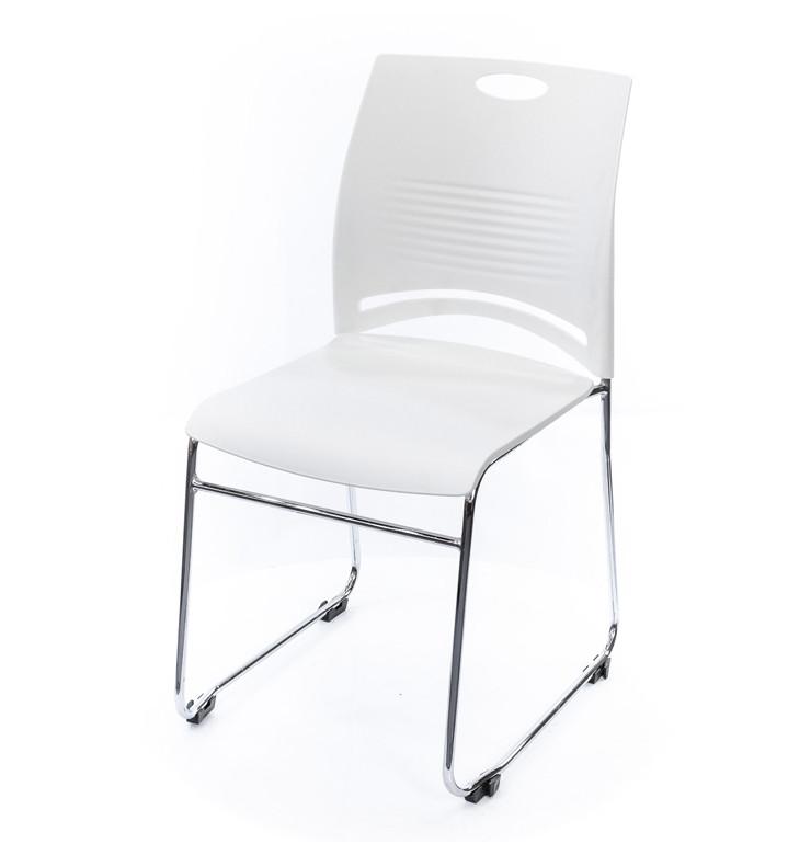 Стілець офісний Плейфул, білий, м'який стілець, стильний офісний стілець, CH А-Клас