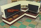 Диван для кухни «Экстерн» с 2-мя ящиками и угловой спинкой Качество, фото 3