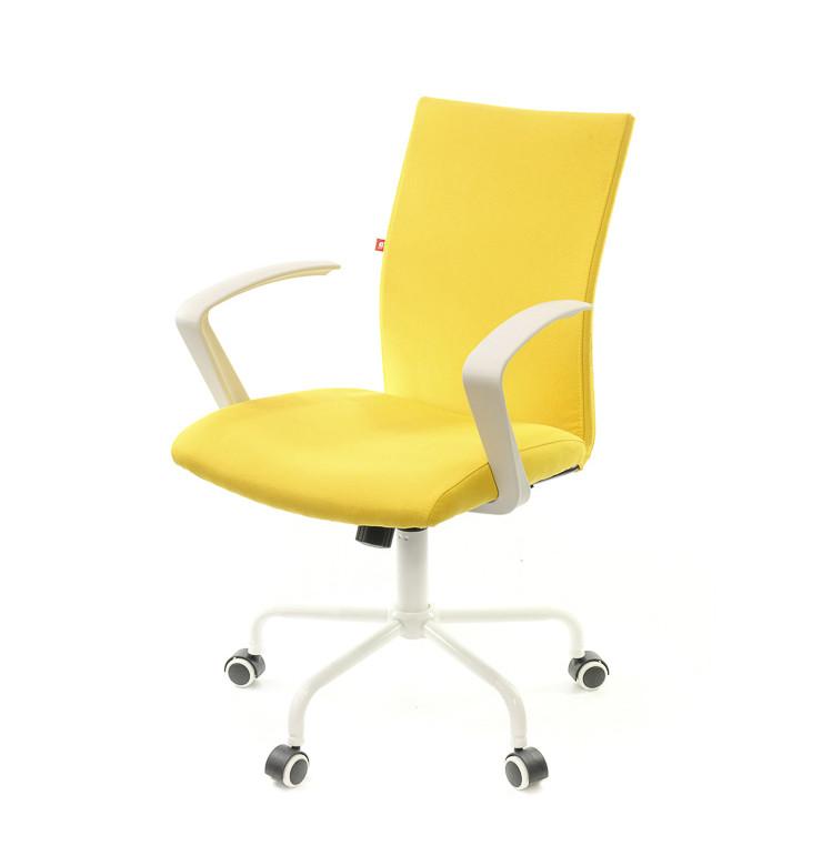 Крісло офісне Арсі, жовтий, комп'ютерне крісло на колесах з підлокітниками, WT TILT А-Клас