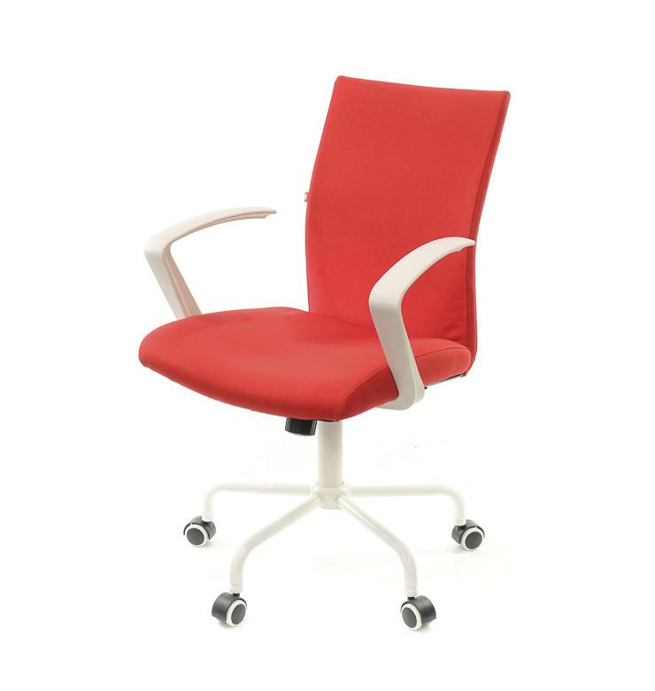 Крісло офісне Арсі, червоний, комп'ютерне крісло на колесах з підлокітниками, WT TILT А-Клас