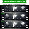 Вуличний світлодіодний ліхтар з датчиком руху Home fest Led wick BL-LF-1728A Комплект 4шт, фото 3