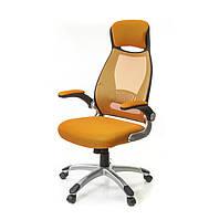 Кресло офисное Винд, оранжевый, компьютерные кресло на колесах с подлокотниками, PL TILT А-Клас