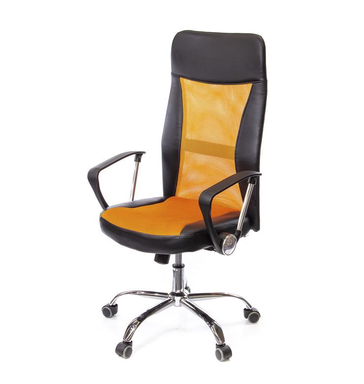 Кресло офисное Гилмор Люкс, оранжевый, компьютерные кресло на колесах с подлокотниками, СН TILT А-Клас