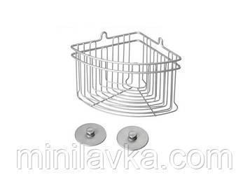 Полку METALTEX Artic кутова для ванної сірий матовий металлик покриття Polytherm Frost (402710)