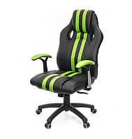 Крісло офісне Гурон, чорно-зелений, ергономічне м'яке комп'ютерне крісло, PL SR А-Клас