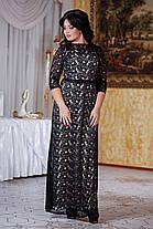 Д792 Вечернее платье размеры 50-52 Черный, фото 2