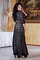 Д792 Вечернее платье размеры 50-52 Черный, фото 3