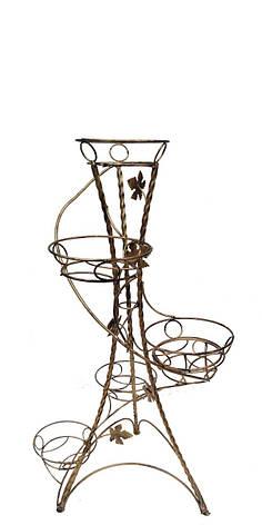 """Подставка кованая для цветов """"Спираль Витая"""" на 6 вазонов, фото 2"""