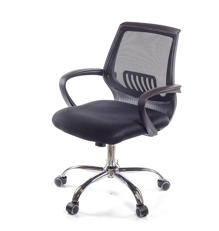 Кресло офисное Ларк, черный, компьютерные кресло на колесах с подлокотниками, CH PR А-Клас