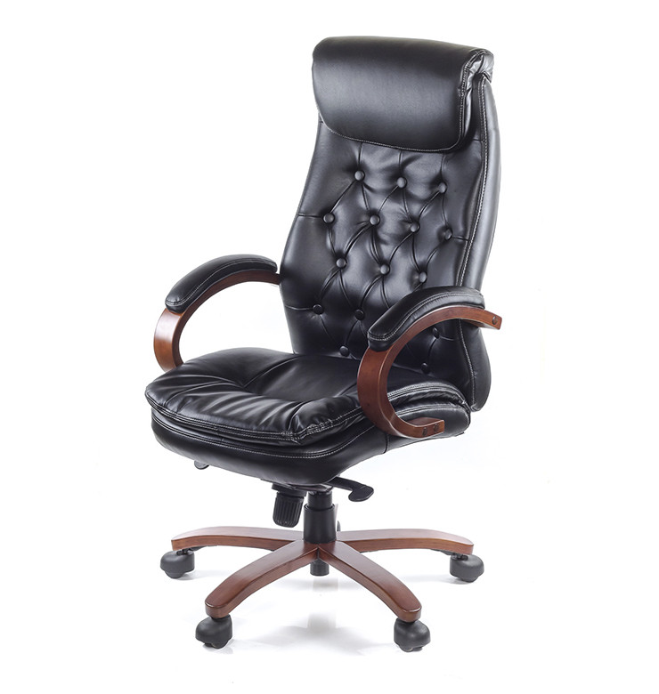 Крісло офісне Лаціо, чорний, ергономічне м'яке комп'ютерне крісло, ЕХ MB А-Клас