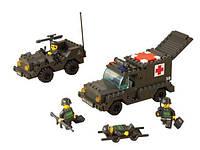 Конструктор Sluban серия Сухопутные войска M38-B6000 (Санитарный автомобиль и джип)