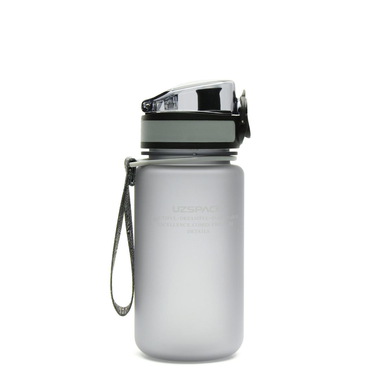 Фляга для води 350 мл Uzspace Frosted сіра (серія 3034)