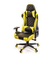 Кресло офисное Пегас, черно-желтый, эргономичное мягкое компьютерное кресло, PL RL А-Клас