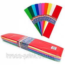 Бумага креповая цветная ассорти 0,5х2м KR55-80