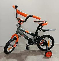 """Детский двухколесный велосипед Azimut Stitch 12"""" оранжевый (12 дюймов)"""
