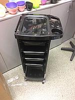 Візок перукарня 4 полички чорна Q28