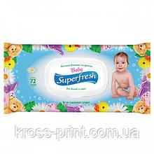 Салфетка влажная 72шт Super Fresh с клапаном 42110400