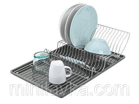 Сушилка METALTEX VINGTEX для посуды 50х31х11 см серый металлик покрытие Polytherm (325426)