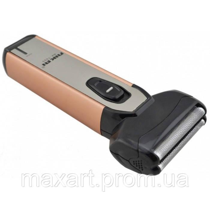Электробритва с триммером NIKAI NK-7005 бритва Золотая