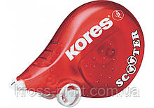 Коректор ленточный Kores SCOOTER, 4,2 мм х 8м,  червоний