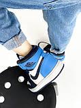 Женские кроссовки Nike Jordan PA340 бело-голубые, фото 7