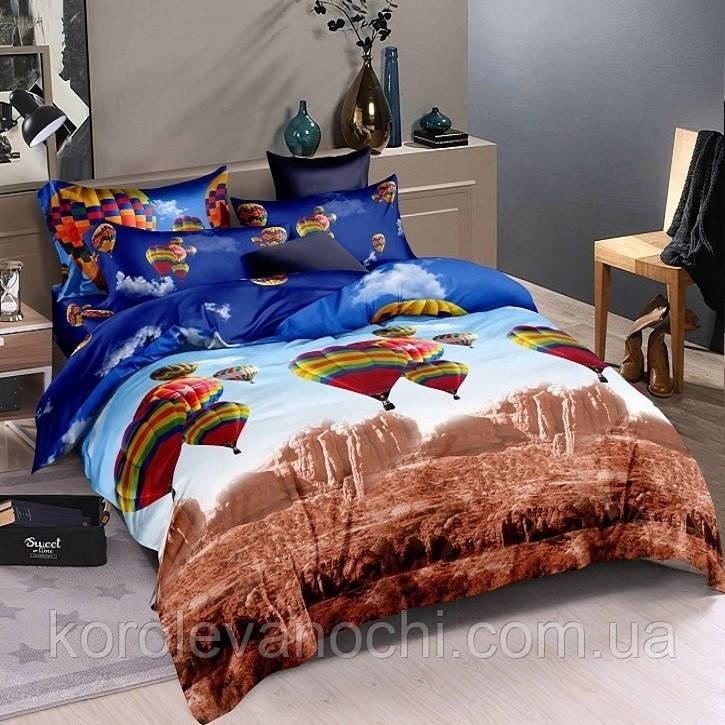 """Евро комплект (Ранфорс)   Постельное белье от производителя """"Королева Ночи""""   Воздушные шары, Каньон"""