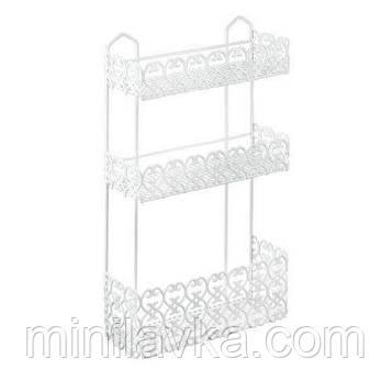 Полку Metaltex Florenz 3 секції 30х10х50 см біле пластикове покриття (424303)