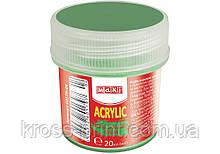 Акрил для декора матовый 20 мл, зеленый