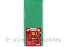 Бумага тишью, 17г/м, 5 листков 50*70 см, цвет пастельный салатовый