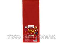 Бумага тишью, 17г/м, 5 листков 50*70 см, цвет красный