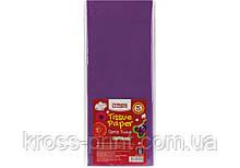 Бумага тишью, 17г/м, 5 листков 50*70 см, цвет насыщенный фиолетовый
