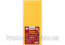 Бумага тишью, 17г/м, 5 листков 50*70 см, цвет насыщенный желтый