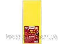 Бумага тишью, 17г/м, 5 листков 50*70 см, цвет пастельный желтый