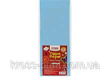 Бумага тишью, 17г/м, 5 листков 50*70 см, цвет пастельный голубой