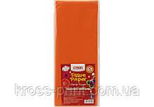 Бумага тишью, 17г/м, 5 листков 50*70 см, цвет оранжевый