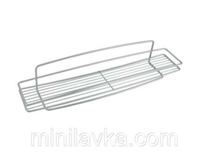 Полка METALTEX Onda 52x11x11 см серый металлик покрытие Polytherm (460100)