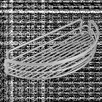 Полку METALTEX Viva 37х17х6 см сірий металік покриття Polytherm (404808)