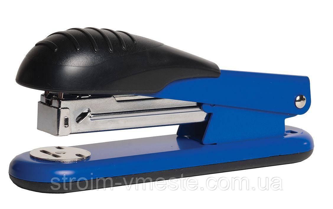 Степлер канцелярский металлический SCHOLZ 4023 №24/6-№26/6 65 мм синий