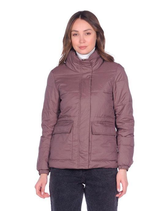 Теплая женская куртка на синтепоне Yimeige 42-48 (в расцветках)